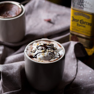Tequila Spiked Mexican Hot Chocolate.