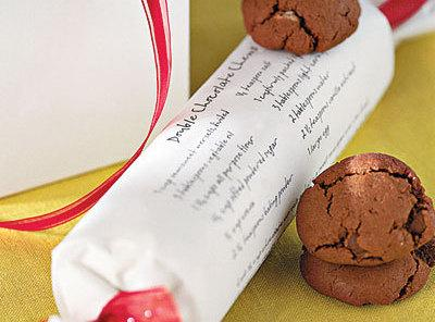 Cute Holiday Party Favor/gift Brownie/cookie Rolls Recipe