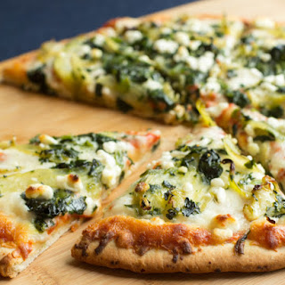 Pizza with Caramelized Fennel, Spinach and Goat Cheese