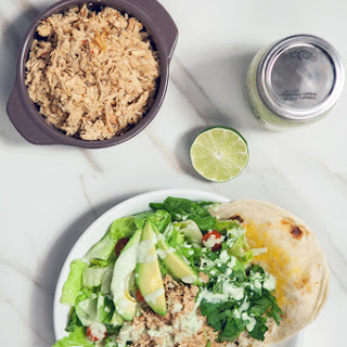 Cafe Rio-Style Pulled Chicken Salad (with Creamy Tomatillo Ranch!)