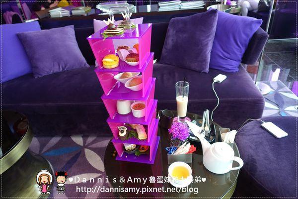 W hotel紫艷酒吧「眉目傳情」下午茶台北W飯店31樓欣賞101大樓 有氣氛