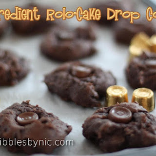 4-Ingredient Rolo-Cake Drop Cookies