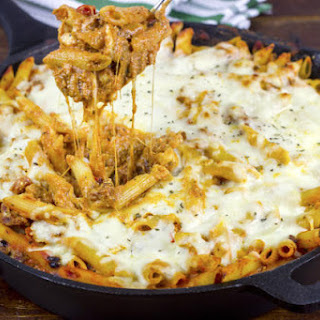 Supreme Pizza Pasta Bake