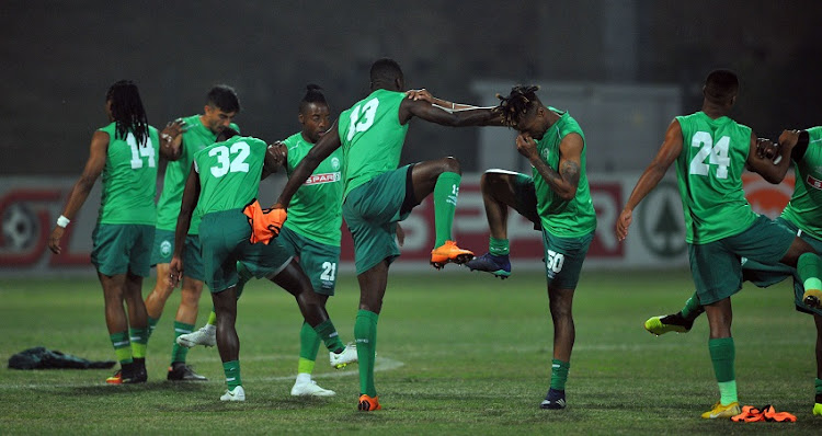 AmaZulu players during the Absa Premiership match between AmaZulu and Baroka FC on the 04 August 2018 at King Zwelithini Stadium.