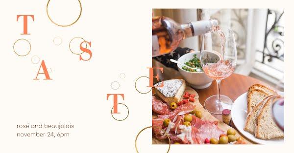 Rosé Wine Tasting - Facebook Event Cover Template