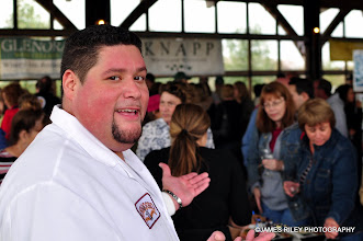 Photo: Ricky Pagan of Formaggio Cheese and Kings in the Kitchen at the Bethel Woods Wine & Cheese festival of which he is the sponsor.