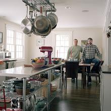 Photo: title: Brett Johnson + Tim Waite, Yarmouth, Maine date: 2015 relationship: friends, art, met through Portland Museum of Art years known: 0-5