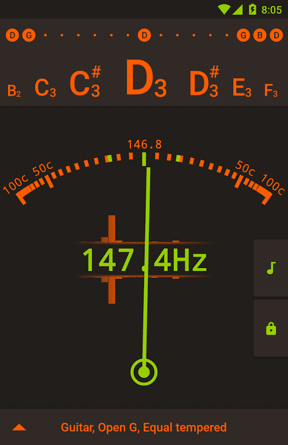 Tuner - gStrings Free- screenshot