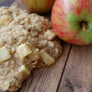 Honey Apple Oatmeal Cookies.