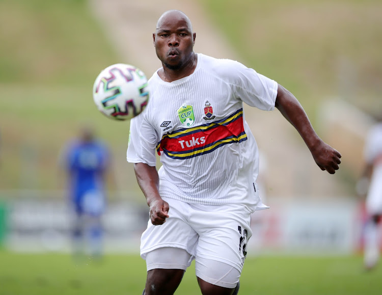 Collins Mbesuma in action for University of Pretoria during the Nedbank Cup last 32 match against JDR Stars at Giant Stadium in Soshanguve on February 6 2021.