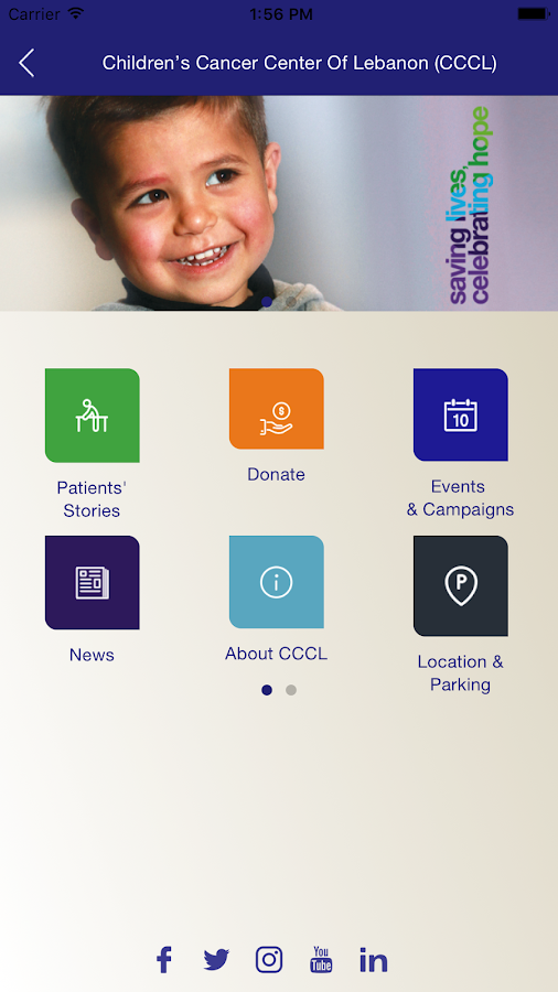 Children's Cancer Center of Lebanon (CCCL)- screenshot