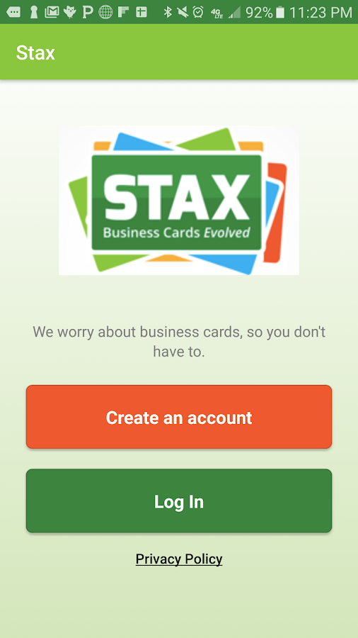 STAX Mobile App- screenshot