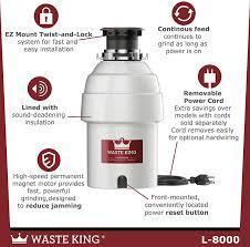 WASTE KING L-8000