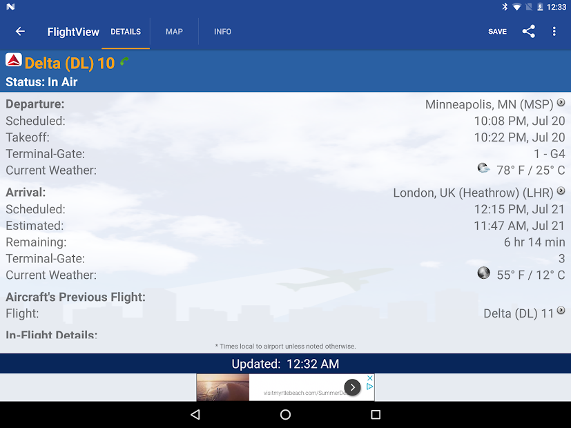 FlightView Free Flight Tracker on Google Play Reviews | Stats on