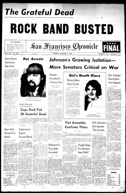 The drug bust is front page news for the SF Chronicle.