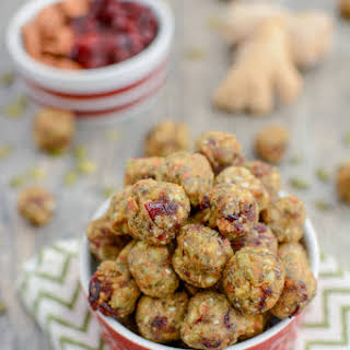 Cranberry Ginger Energy Bites.
