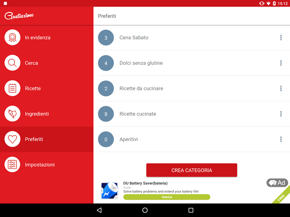 Gustissimo: Ricette di cucina - Android Apps on Google Play