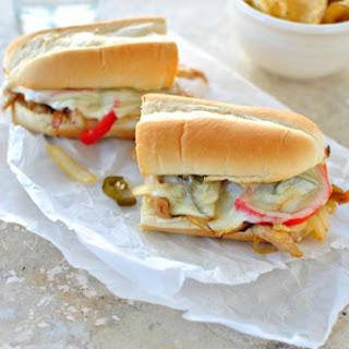 Chicken Cheesesteak Sandwiches.
