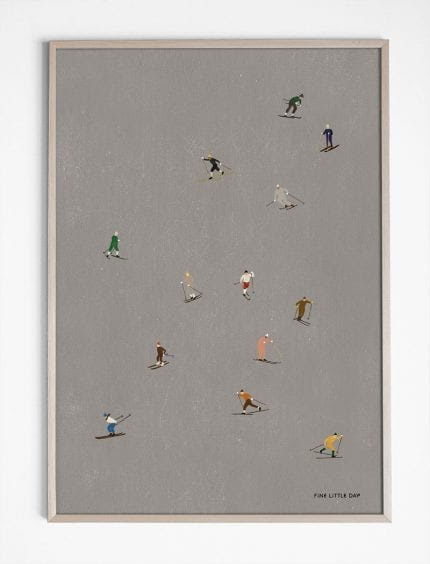Skiers poster 50x70 cm