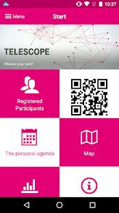 TeleScope Event App - náhled