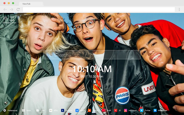 Prettymuch New Tabs HD Music Top Themes