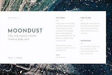 Moondust Body Wash - Label template