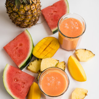 Hydrating Tropical Dessert Smoothie.