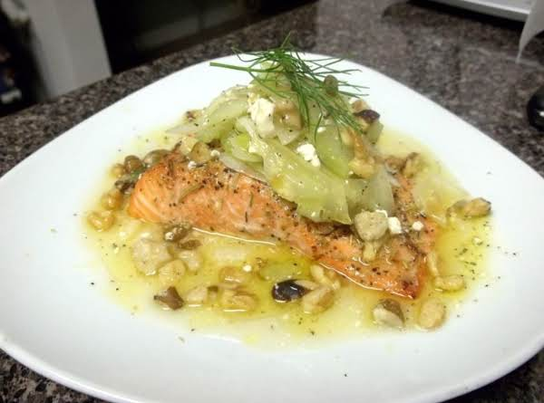 Steelhead Trout With Fennel Celery Salad Recipe