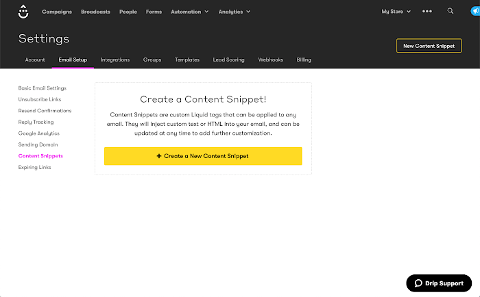Content Snippets
