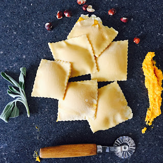 Butternut Squash Ravioli with Sage Butter