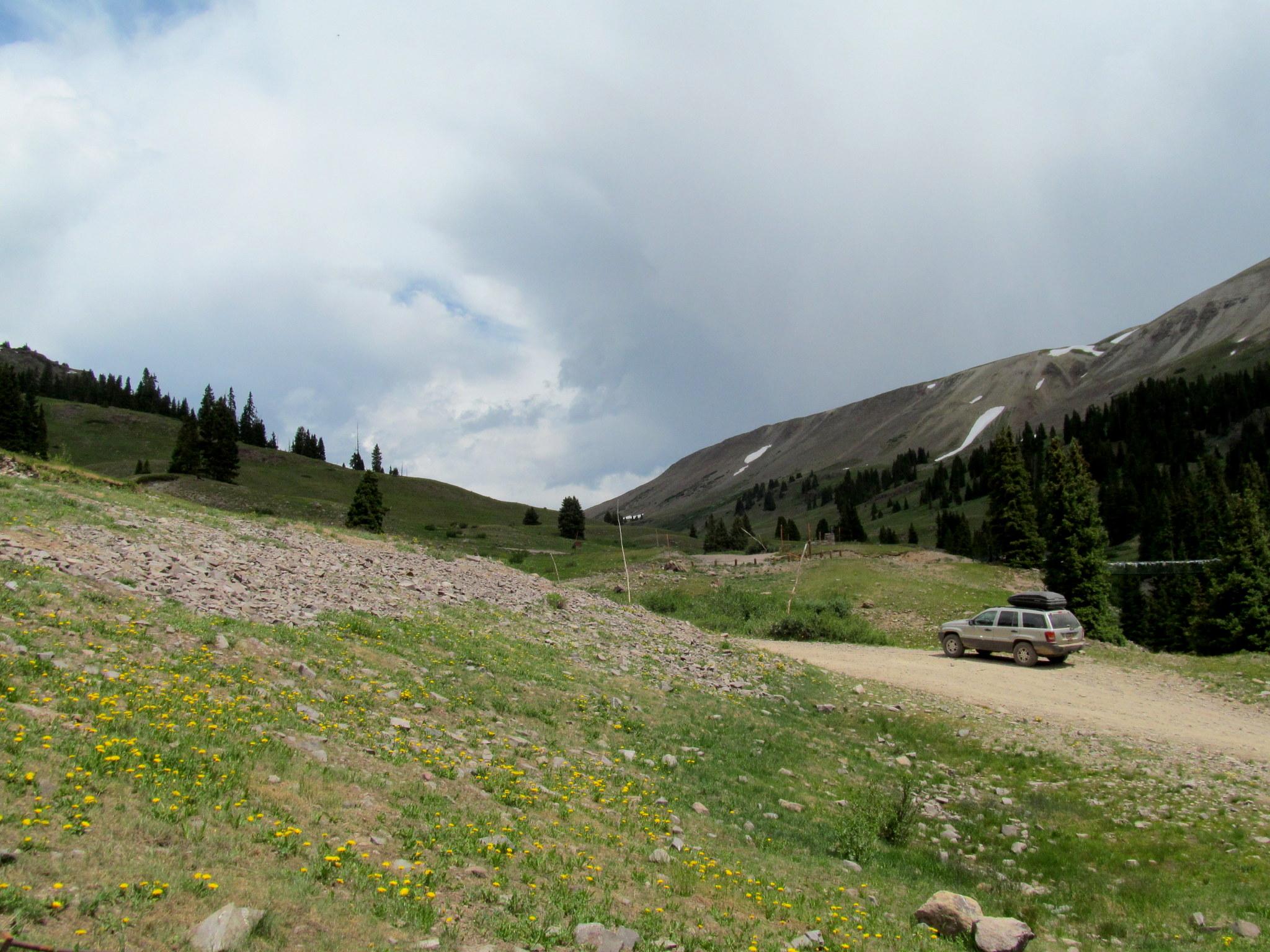 Photo: Starting the climb up to Engineer Pass