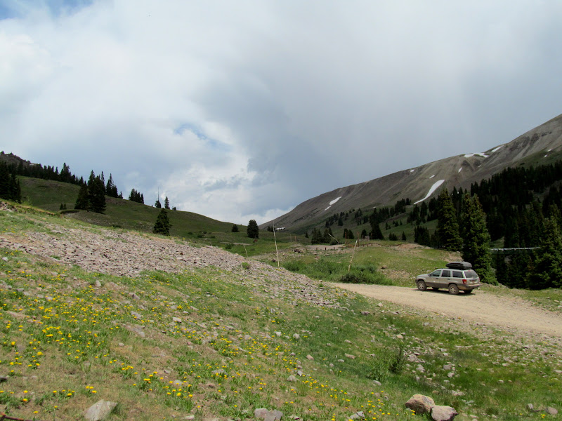 Photo: Starting the climb up to Engineer Pass