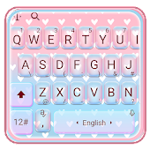 Pastel Color Pretty Hearts Keyboard Theme Android APK Download Free By Bs28patel