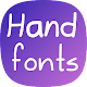 Hand fonts for FlipFont - with fonts resizer Apk