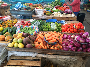 Photo: Local markets full of color.
