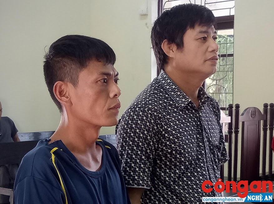 2 bị cáo Lê Văn Tăng và Vũ Văn Nhã tại phiên tòa