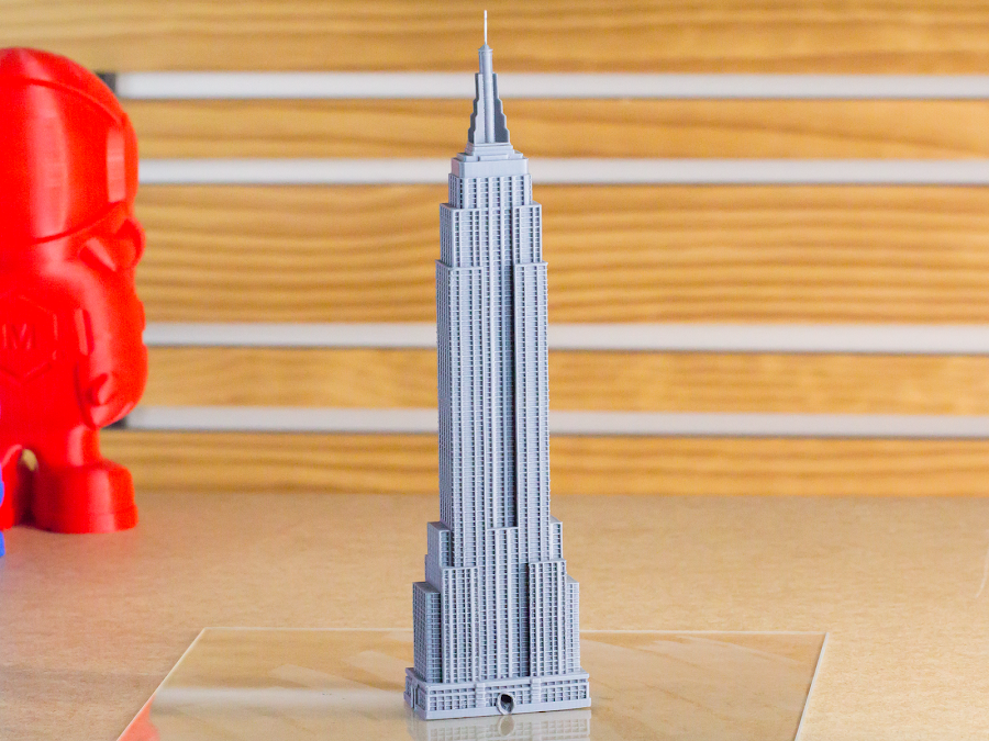 All these small details on the face of the Empire State Building would get lost as the outer layers get smoothed out in the Polysher.