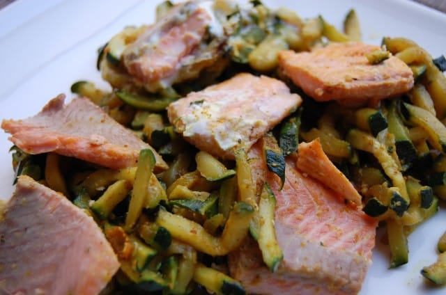 Curried Trout and Zucchini
