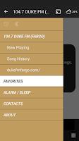 Screenshot of 104.7 DUKE FM (FARGO)