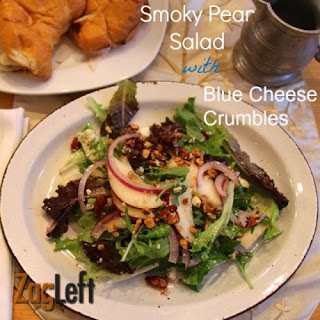 Smoky Pear Salad With Blue Cheese Crumbles