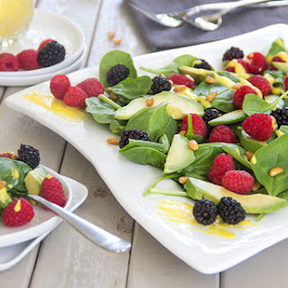 Summer Berry Avocado Salad with Mango Vinaigrette