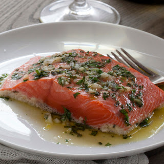Alaska Sockeye Salmon with Herbs and Garlic
