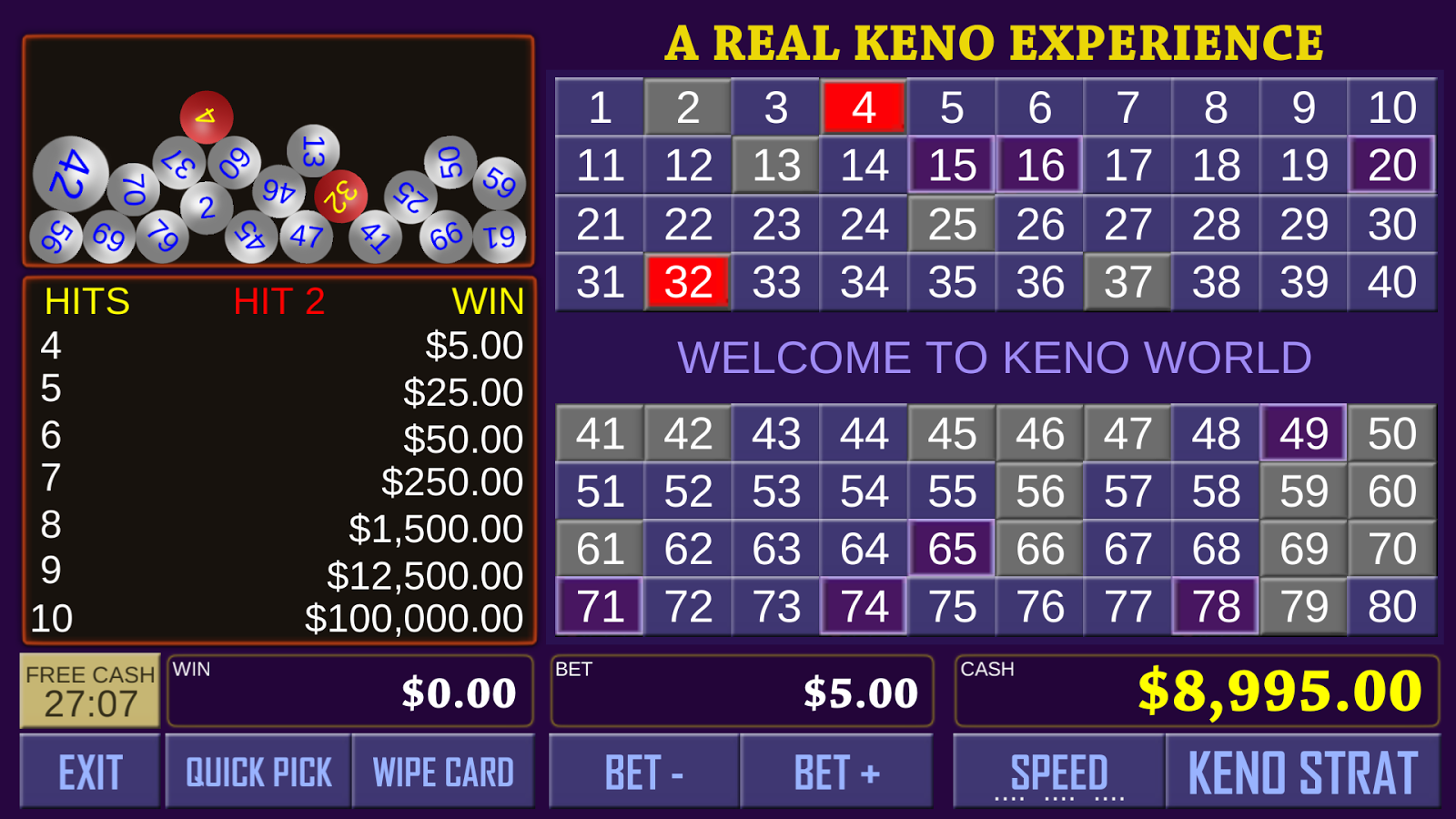 Join Keno Arcade Game Online at Casino.com South Africa