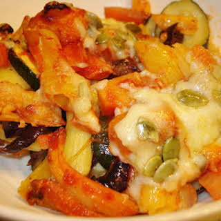 Gluten Free Roasted Vegetable Pasta Bake GF.