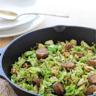 One Pan Brussel Sprout and Sausage Skillet.