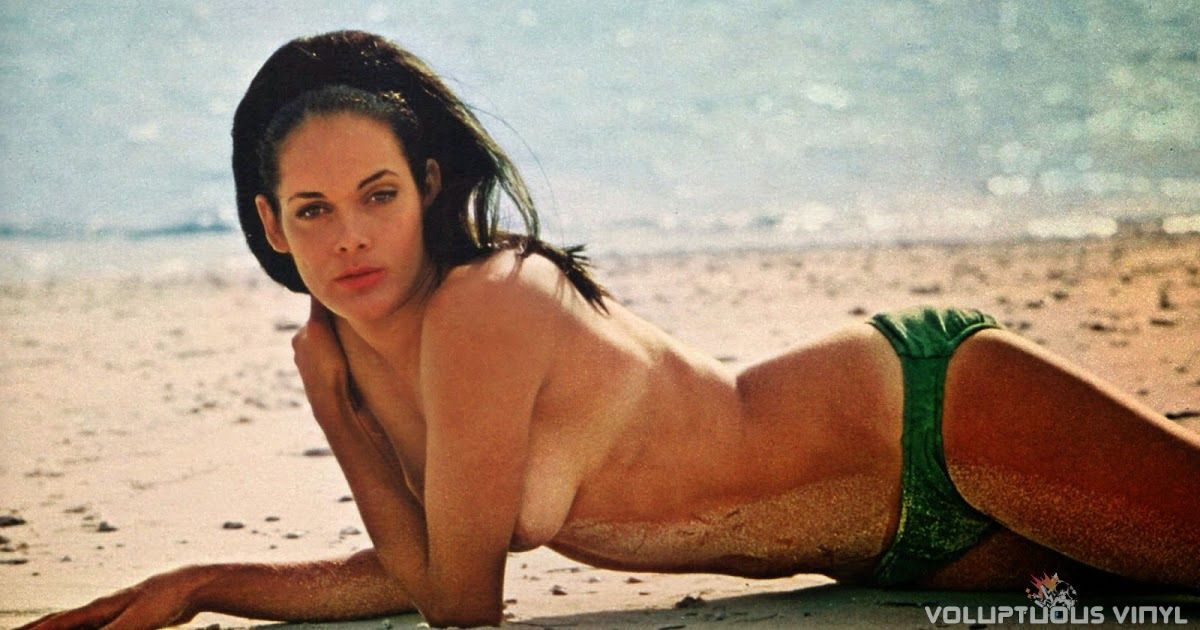 Martine Beswick Topless on the beach