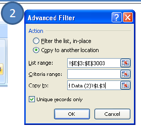 Advance filter