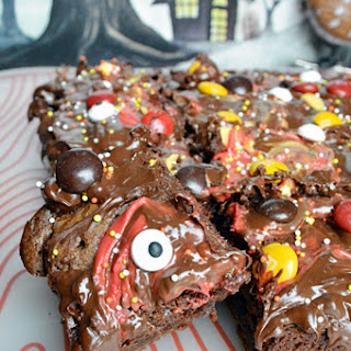 Spooky Chocolate Bark Brownies.