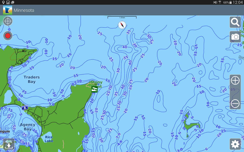 Aqua Map Minnesota Lakes GPS Android Apps On Google Play - Map of minnesota lakes