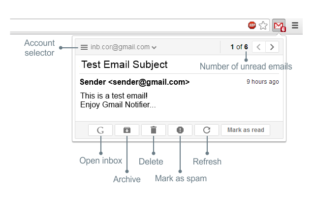 Notifier for Gmail™
